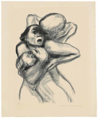 Käthe Kollwitz, 'Tod packt eine Frau, Plate 4 from: Tod', 1934