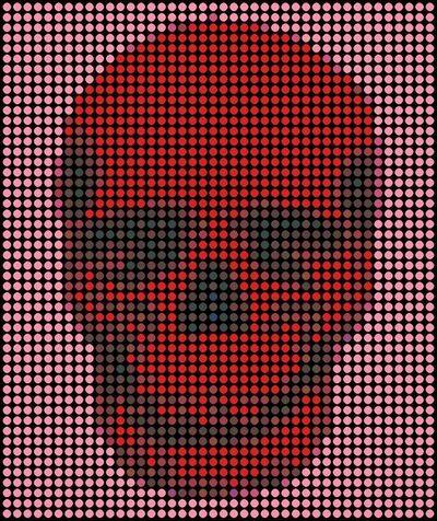 Dimitri Likissas, 'Red Skull Pink', 2019
