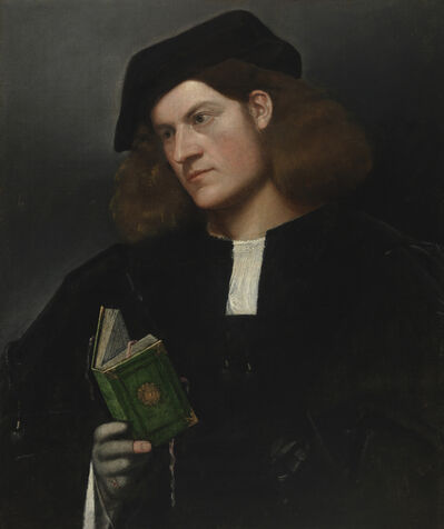 Giovanni Cariani, 'Portrait of a Young Man with a Green Book', 1510-1520