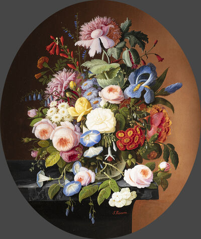 Severin Roesen, 'Vase of Flowers', Late 19th century