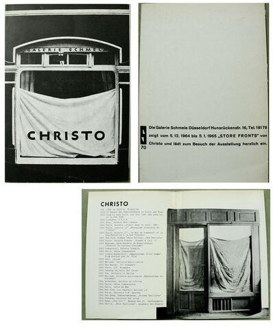 "Christo, '""Storefronts"", Invitation, Galerie Schmela Düsseldorf', 1964"