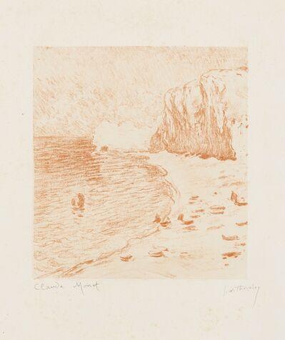 Claude Monet, 'La Plage et la Falaise d'Amont', 1890