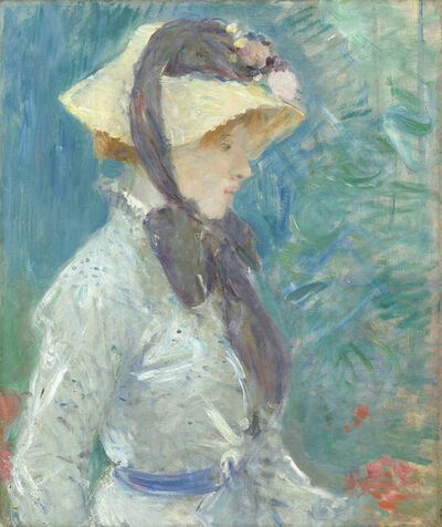 Berthe Morisot, 'Young Woman with a Straw Hat', 1884
