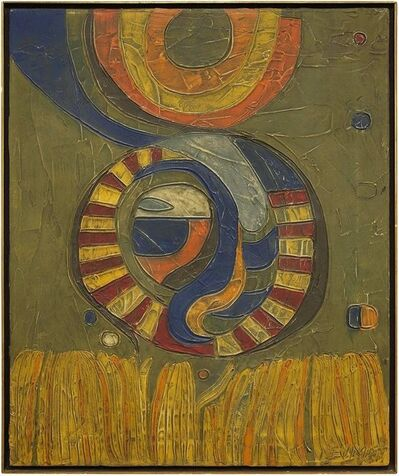 Robert S. Neuman, 'Geometric Composition, Abstract Oil Painting', Mid-20th Century
