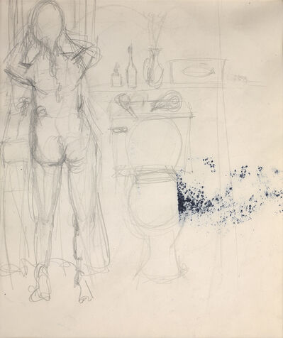 Elaine de Kooning, 'A Nude Woman at a Sink in a Bathroom', ca. 1965