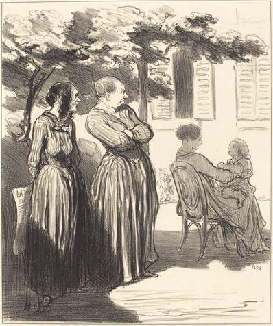 Honoré Daumier, 'Voila une femme qui, a l'heure solennelle...', 1848