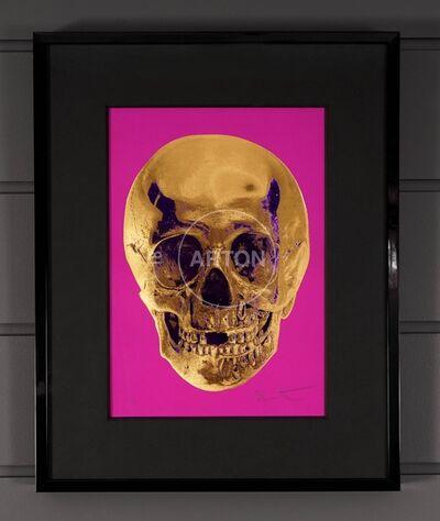 Damien Hirst, ''Till Death Do Us Part, Skull, Fuchsia/Gold', 2012
