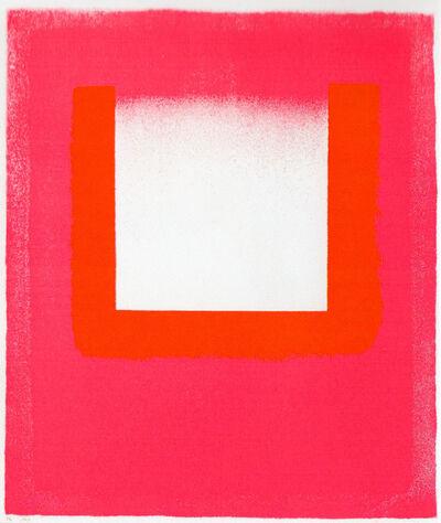 Rupprecht Geiger, 'Leuchtrot warm - kalt', 1965