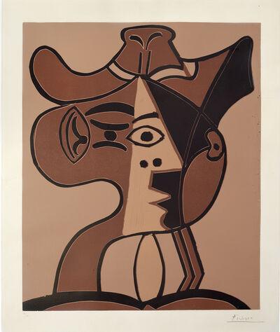 Pablo Picasso, 'Grande tête de femme au chapeau', 1962