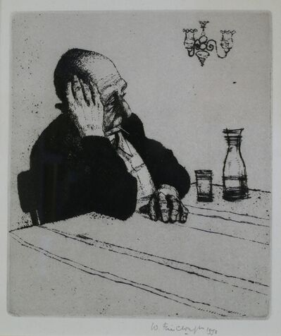 Wilfred Fairclough, 'Drinker, Venice', 1973