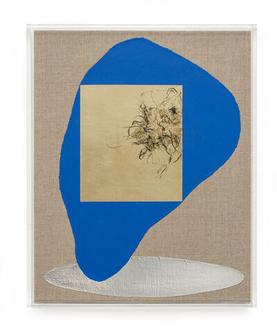 Pierre Vermeulen, 'Hair orchid sweat print, blue form with mirror pool', 2019