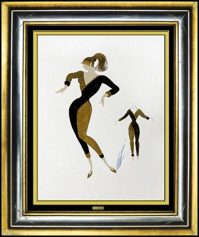 Erté (Romain de Tirtoff), 'ERTE Original Painting Signed Gouache Artwork Costume Dress Design Moulin Rouge', 1950-1969