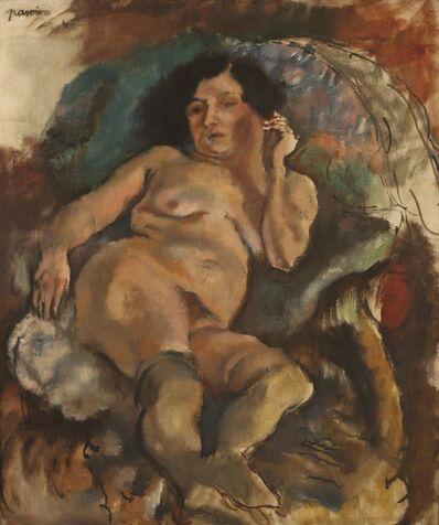 Jules Pascin, 'Jeune Femme Dans un Fauteuil, Oil on canvas, 83X65 cm. Signed.', 1885-1930