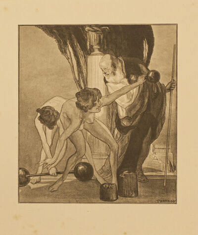 Franz von Bayros, 'Herodikos und die Turnerinnen (Herodicus and the Gymnasts)', 1914