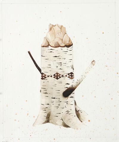 Scott Kelley (b. 1963), 'Birch Stump without Leaf'