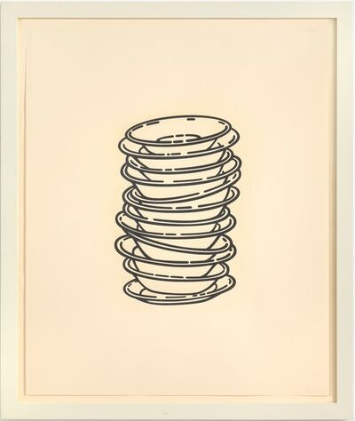 Robert Therrien, 'No title (stacked plates)', 2008