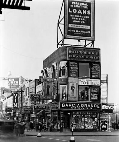 """Berenice Abbott, 'Billboards and Signs (from the series """"Changing New York"""")', 1936"""