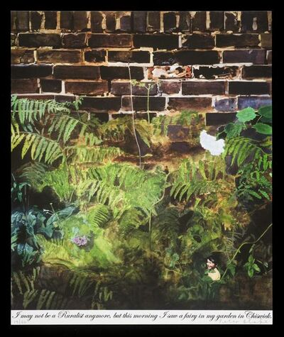 Peter Blake, 'I may not be a Ruralist any more, but this morning I saw a fairy in my garden in Chiswick', 2008