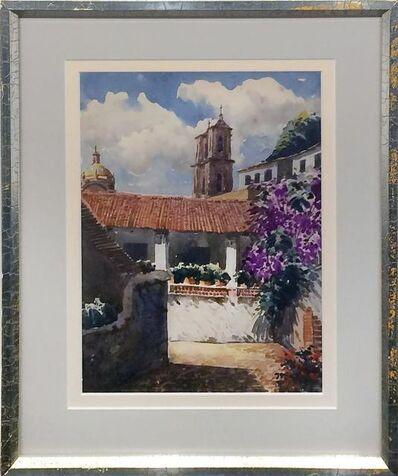 Oscar Berninghaus, 'Courtyard, Mexico '