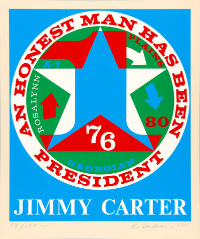 Robert Indiana, 'Jimmy Carter, from the Presidential Portfolio', 1980