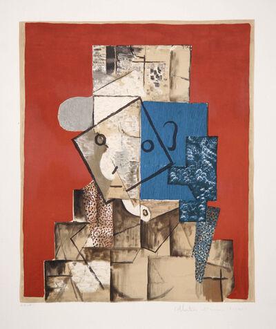 Pablo Picasso, 'Visage sur Fond Rouge, 1914', 1979-1982