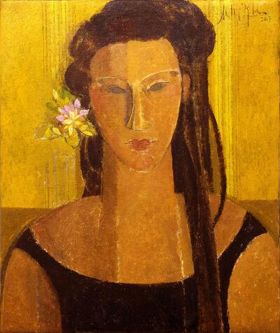 Alfredo Roldan, 'Mujer en amarillo', 2017