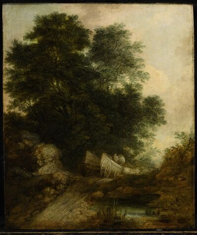 Thomas Gainsborough, 'Wooded Landscape with Peasants in a Wagon', circa 1765-6