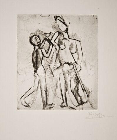 Pablo Picasso, 'Deux figures nues: Femme à la guitare et garçon à la coupe', 1908