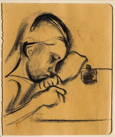 Franz Nölken, 'Schreibendes Mädchen (Girl writing)', 1912