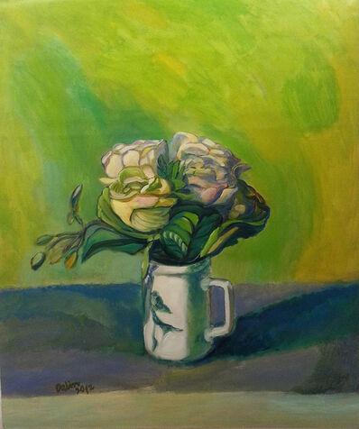 Wang Dalin, 'Roses (Green background)', 2012