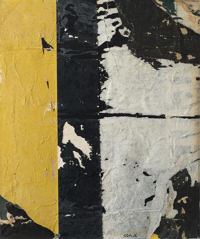Mimmo Rotella, 'VERTICALE - NERO', 1960