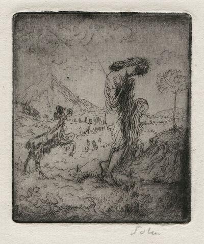 Augustus John, 'The Little Shepherdess', 1906