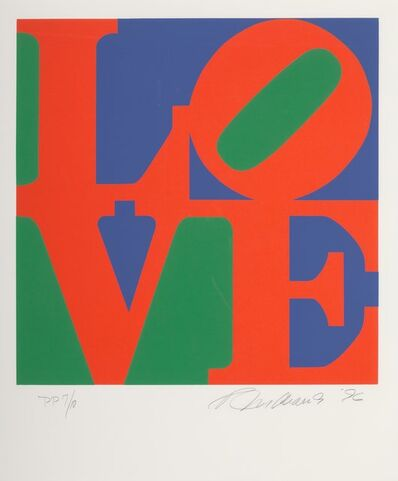 Robert Indiana, 'One Plate, from Book of Love', 1996