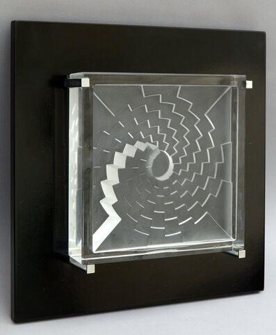 Marcello Morandini, 'Jahresobjekt in glas. Foro geometrico', 1986