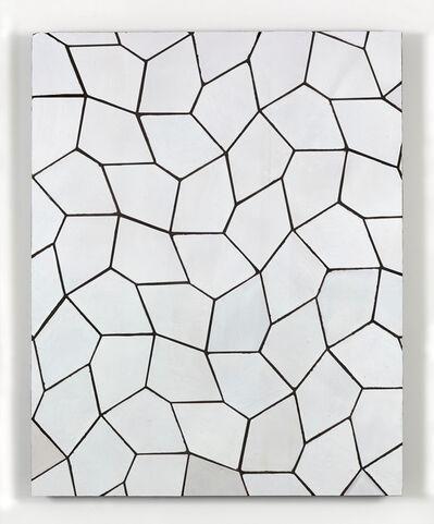 Sarah Crowner, 'Tile Painting (Terracotta Pentagon Leaves, White)', 2016