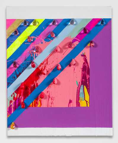 Sarah Cain, 'untitled (splattered prism)', 2016