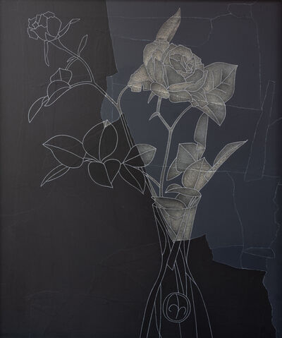 Derrick Greaves, 'Rose, Black and White', 1982