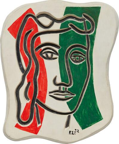Fernand Léger, 'Visage en creux (rouge et vert)', 1952