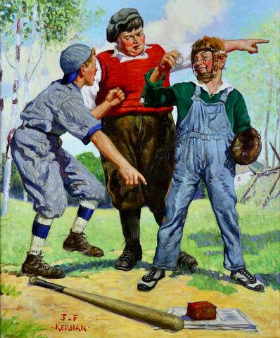 Joseph Francis Kernan, 'Three Baseball Boys, Capper's Magazine Cover', 1928