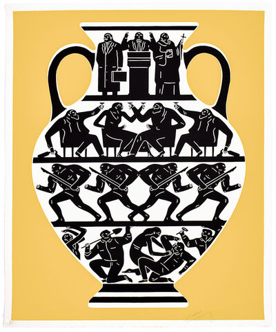 Cleon Peterson, 'TRUMP 2017 (Gold & Black)', 2017