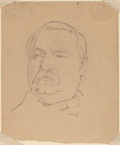 Eastman Johnson, 'Grover Cleveland [recto]'