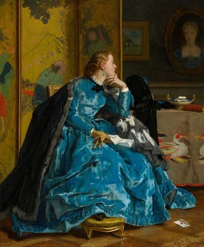 Alfred Stevens, 'A Duchess (The Blue Dress)', ca. 1866