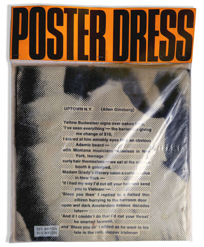 Allen Ginsberg, 'Poster Dress by Harry Gordon with Allen Ginsberg poem, UNOPENED', 1968