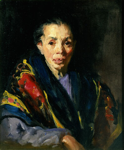 Robert Henri, 'The Old Model (Old Spanish Woman)', 1911