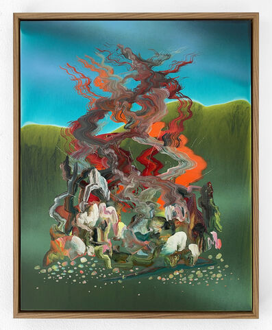Zach Storm, 'Mirage (Turquoise & Sap)', 2020