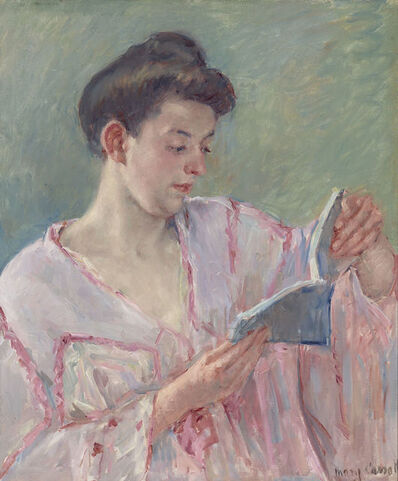 Mary Cassatt, 'Woman Reading a Book', 1911