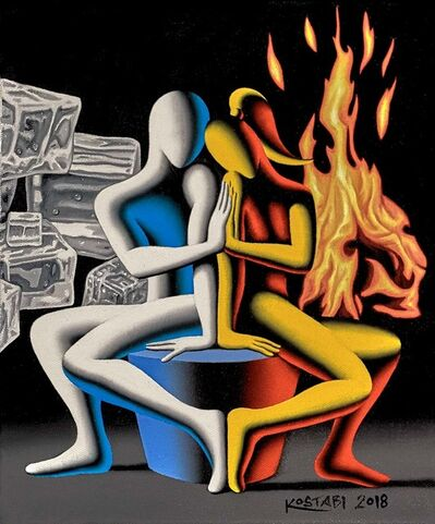 Mark Kostabi, 'The Only Solution', 2018
