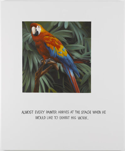 Jonathan Monk, 'Parrot Painting 05 (Almost every painter arrives at the stage when he would like to exhibit his work)', 2008