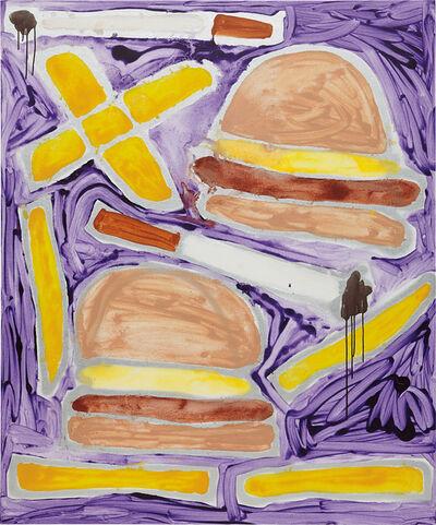 Katherine Bernhardt, 'Hamburgers French Fries + Cigarettes', 2014