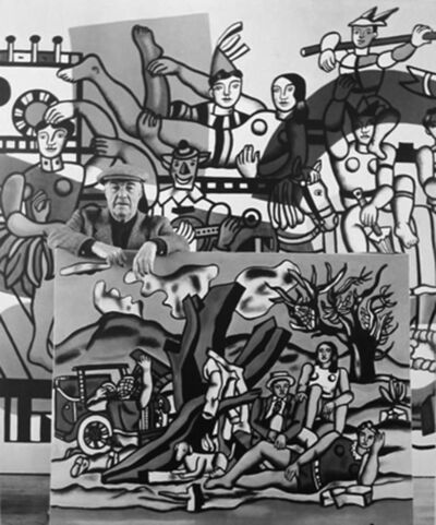 Robert Doisneau, 'Fernand Leger dans ses Oeuvres', 1954